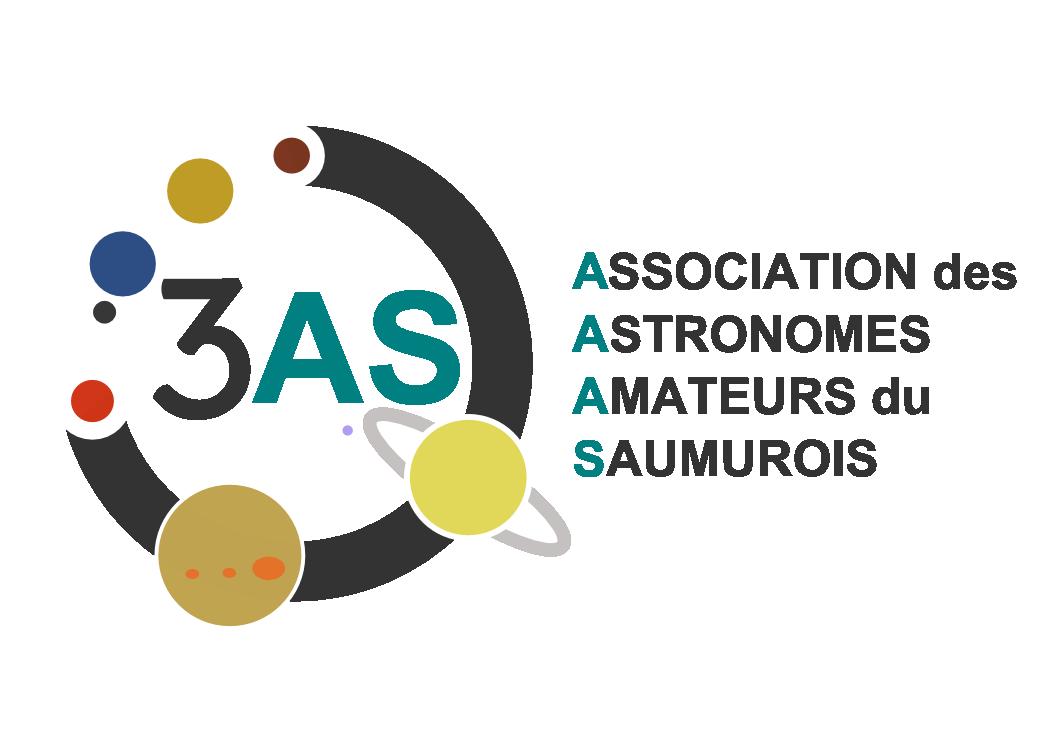 logos de 3 AS Association des Astronomes Amateurs du Saumurois